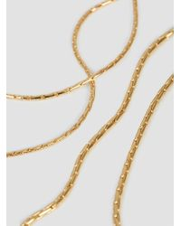 Helena Rohner - Metallic Goldplated Necklace With Silver Links - Lyst