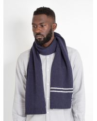 Norse Projects - Blue Winter Cotton Scarf Navy for Men - Lyst