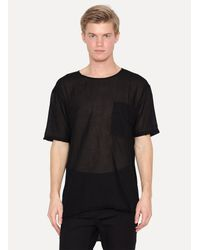 Lost and Found Rooms - Black Cotton Voile Over T-shirt for Men - Lyst