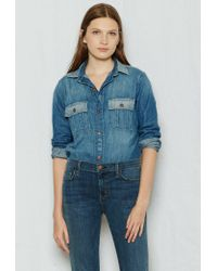 Current/Elliott - Blue The Whitney Prep Shirt - Lyst