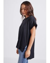 Current/Elliott - Black The High Low Tee - Lyst