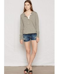 Current/Elliott - Blue The Boyfriend Short - Lyst