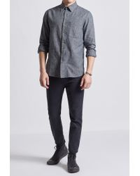 Current/Elliott - Blue Classic Mock Henley for Men - Lyst