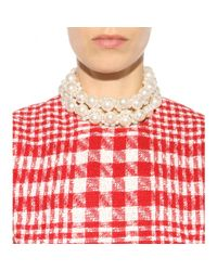 Simone Rocha - White Faux Pearl Necklace - Lyst