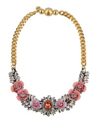 Shourouk - Pink Necklace - Lyst