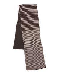 Calvin Klein - Gray Striped Knit Scarf - Lyst