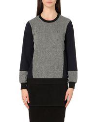 5cm - Gray Mesh-hem Jersey Sweatshirt - Lyst