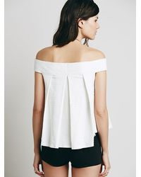 Free People | White Womens Priscilla Top | Lyst