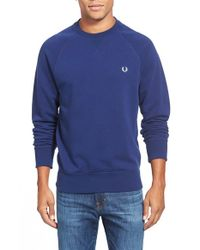 Fred Perry - Blue Loopback Pullover for Men - Lyst