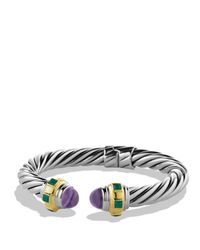 David Yurman - Purple Green Onyx & Gold - Lyst