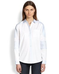 Marc By Marc Jacobs - White Miki Paneled Cotton Shirt - Lyst