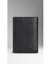Burberry Sport - Black Signature Grain Leather Passport Cover for Men - Lyst