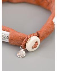 Maria Rudman - Brown Leather Braid Bracelet - Lyst