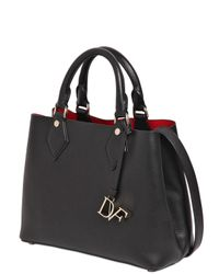 Diane von Furstenberg - Black Small Voyage Leather Tote Bag - Lyst
