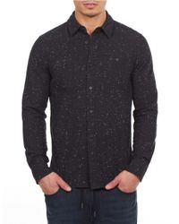 William Rast | Black Textured Cotton Sportshirt for Men | Lyst
