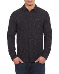 William Rast - Black Textured Cotton Sportshirt for Men - Lyst