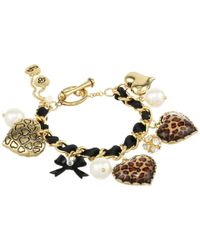 Betsey Johnson - Metallic Toggle Leopard Bracelet - Lyst