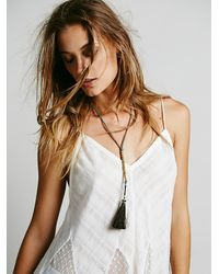 Free People | Green Heyoka Leather Womens Horsehair Tassel Pendant | Lyst