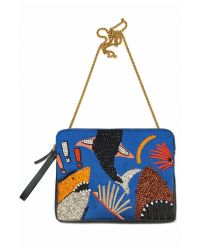 Lizzie Fortunato | Black Safari Clutch In Shark Attach | Lyst
