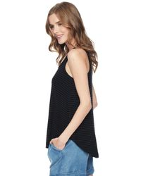Splendid | Black Stripe Swingy Tank | Lyst