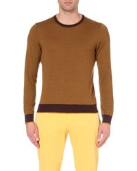 Etro | Yellow Chevron-knit Wool Jumper - For Men for Men | Lyst