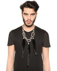 Tom Rebl | Metallic 3 Mink Tail Pendants Chain Necklace for Men | Lyst