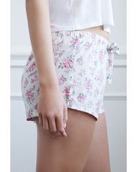Forever 21 - Multicolor Clustered Rose Pj Shorts - Lyst