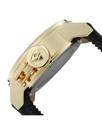 Swiss Legend - Metallic Submersible Black Silicone White Dial Gold-tone Case for Men - Lyst