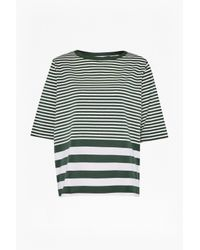 French Connection | Green Midsummer Striped T-shirt | Lyst