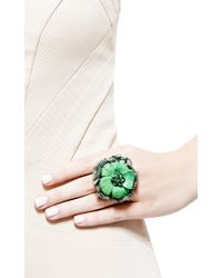 Wendy Yue | One Of A Kind Flower Cocktail Ring with Green Turquoise | Lyst