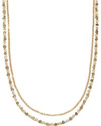 Astley Clarke | Metallic Labradorite Double Row 18ct Gold-plated Necklace - For Women | Lyst
