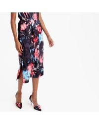 J.Crew | Multicolor Tall Drapey Side-slit Dress In Floral Splash | Lyst