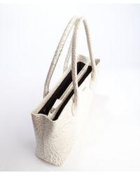 Furla - White Stone Leather Martha Medium Satchel - Lyst