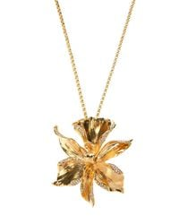 Emanuel Ungaro - Metallic Flower Pendant Necklace - Lyst