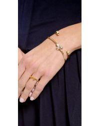Gabriela Artigas - Metallic Stirrup Cuff Bracelet - Lyst