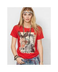 "Denim & Supply Ralph Lauren - Multicolor ""Land That I Love"" Graphic Tee - Lyst"