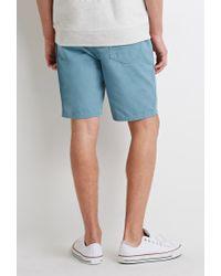 Forever 21 | Blue Cotton Canvas Shorts for Men | Lyst