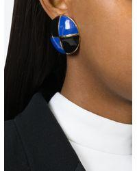 ESCADA | Blue Geometric Contrast Earrings | Lyst