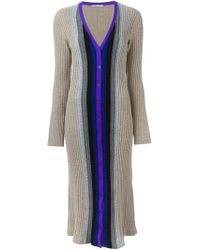 Marco De Vincenzo - Multicolor Long Cable Knit Cardigan - Lyst