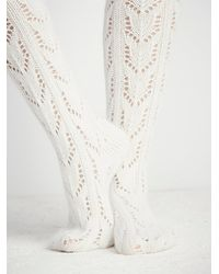 Free People | Natural Womens Wonderland Pointelle Over The Knee Sock | Lyst