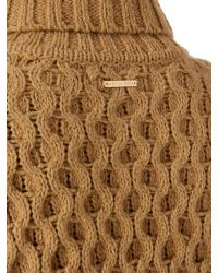 Michael Kors - Natural Polo Textured Knit Polo - Lyst