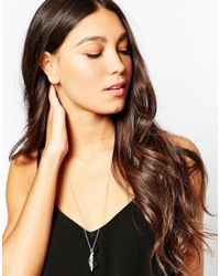 Pieces | Metallic & Julie Sandlau Sterling Silver Jill Feather Long Pendant Necklace | Lyst