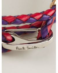 Paul Smith - Purple Braided Bracelet for Men - Lyst