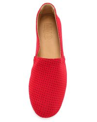 MM6 by Maison Martin Margiela - Red Perforated Neoprene Flats - Yellow - Lyst