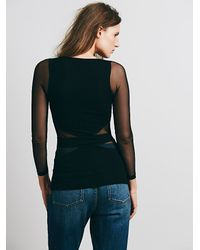 Free People - Black Seamless Cut Out Top - Lyst