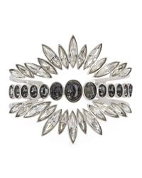 Ca&Lou | Metallic Alexa Swarovski Silver-plated Cuff | Lyst