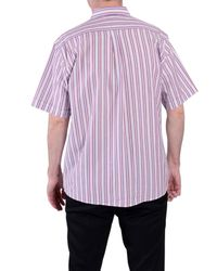 Double Two | Red Stripe Classic Fit Classic Collar Shirt for Men | Lyst