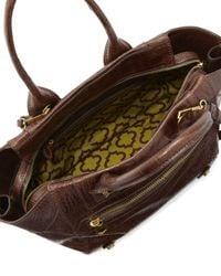 orYANY | Brown Megan Medium Crocodileembossed Satchel Bag Coffee | Lyst