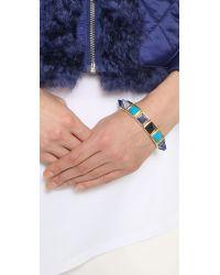 Eddie Borgo | Blue Gemstone Pyramid Bracelet - Turquoise/Gold | Lyst