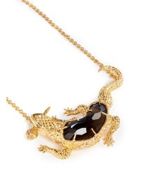 Alexander McQueen | Metallic Salamander Rock Crystal Choker Necklace | Lyst